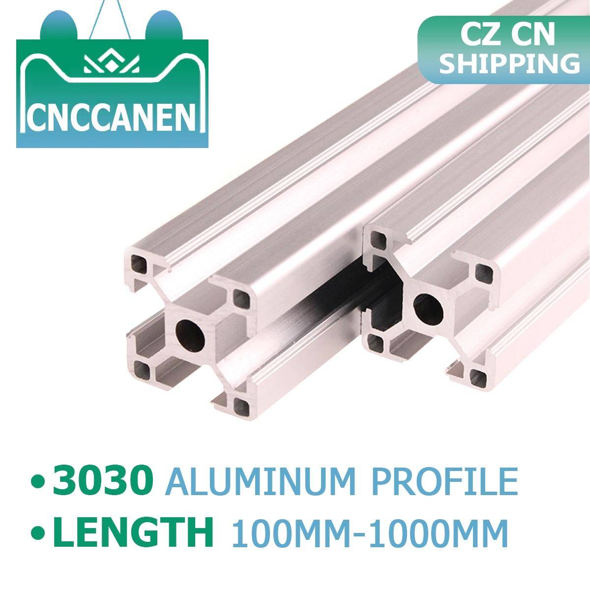 CZ CN Shipping 2PCS 3030 Aluminum Profile Extrusion 100mm-1000mm Length European Standard Anodized For CNC 3D Printer Parts DIY