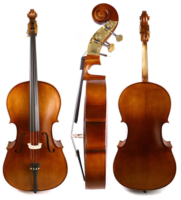 4/4 violoncelle doux son fabriqué à la main érable épicéa métal cheville sac libre arc