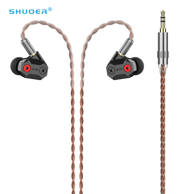 AK SHUOER TAPE 10MM High Performance Nanotechnology Low Voltage Electrostatic Driver in Ear Earphone With Detachable MMCX Cable