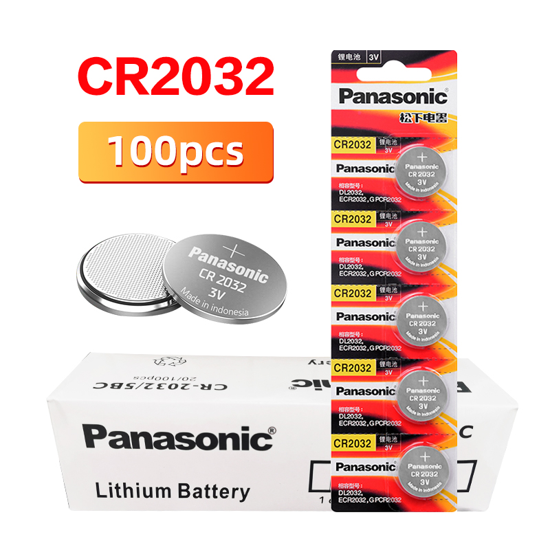 <font><b>PANASONIC</b></font> 100pcs/lot cr2032 Brand New Button Cell Batteries 3V Coin Lithium games remote control computers cr <font><b>2032</b></font> image