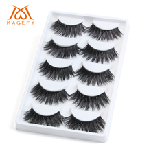 2/5 Pairs 3D Soft Mink Hair False Eyelashes Handmade Natural/Thick Long Lashes Eye Makeup Tools Faux Eye Lashes Extension флешка 16gb qumo qm16gud clk azure usb 2 0 белый голубой