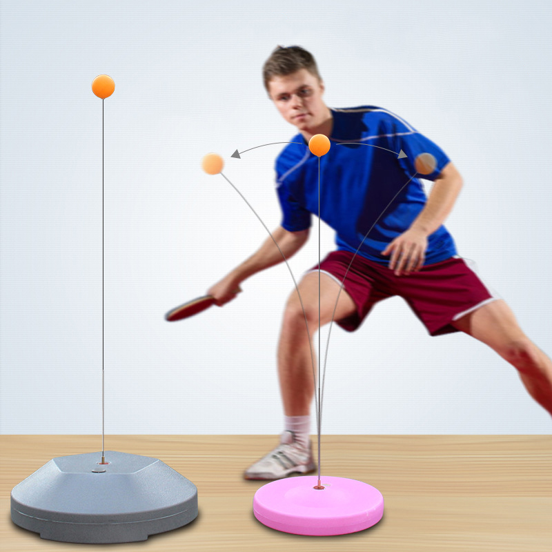 Elastic Soft Shaft Table Tennis Trainer Portable PingPong Practice Equipment Rebound Robot Adults Fitness