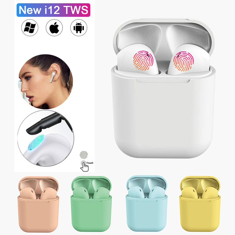 Olnylo i12 tws Matte Bluetooth Earphone Wireless Earbuds Hands free Business Earpieces Sport Headset Bluetooth music Headphones image
