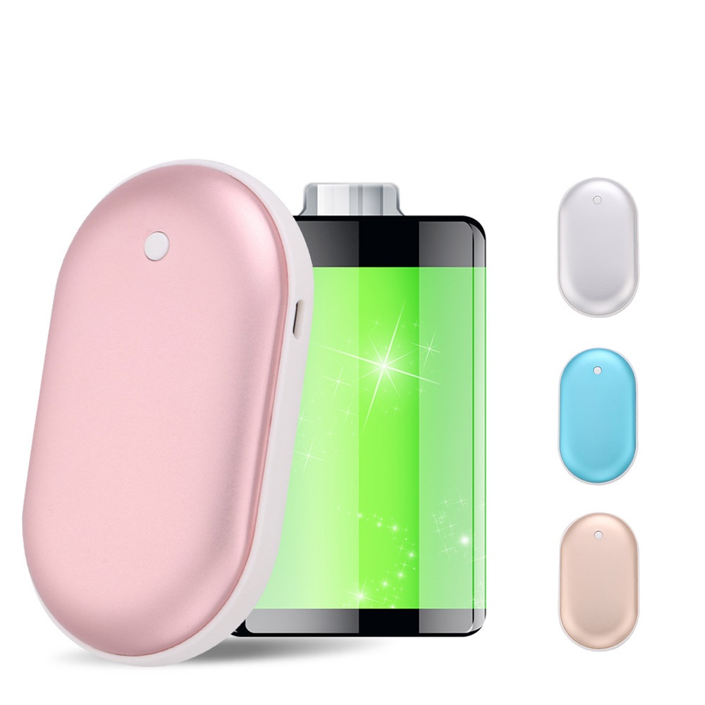 Mini Hand Warmer <font><b>Power</b></font> <font><b>Bank</b></font> <font><b>5000mAh</b></font> Portable USB Charger Handy Mobile External Battery Powerbank Winter Body Warmer Hand Heater image