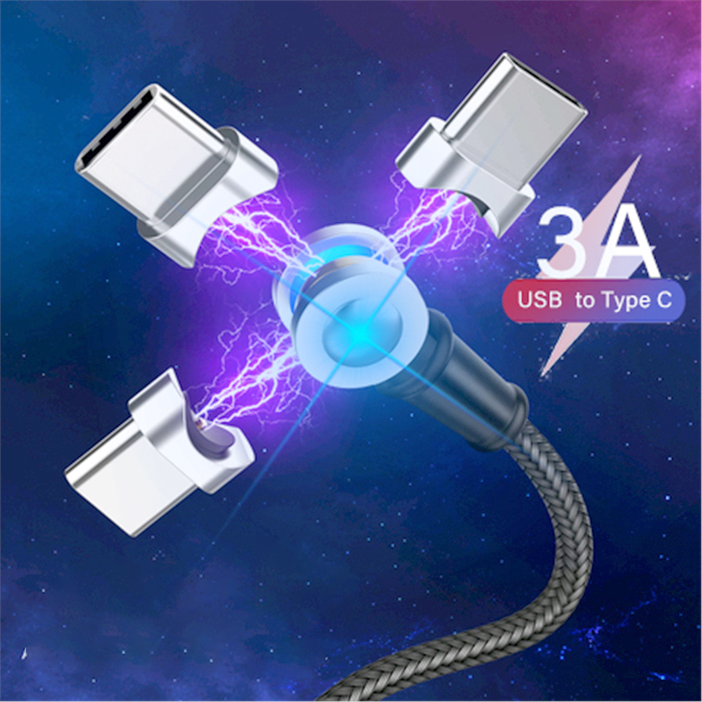 Magnetic Charger Micro USB Type C Cable For Samsung Huawei Mobile Phone Charging USB-C Magnet Charge Wire Cord