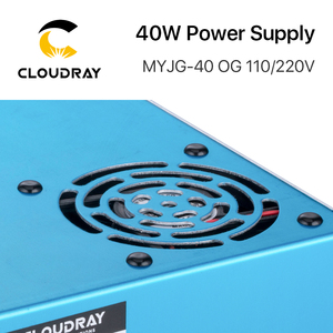 Image 3 - Cloudray 40W CO2 Laser Power Supply MYJG 40WT 110V/220V for Laser Tube Engraving Cutting Machine Model A