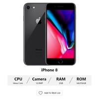"Used Apple iPhone 8 Unlocked Mobile Phone 4.7"" 2GB RAM 64GB/256GB ROM Quad Core 12MP Fingerprint 4G LTE Original iOS Cellphone 2"