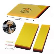 FOSHIO 2/5 sztuk miękkie PPF owijania ściągaczka Carbon Fiber Vinyl Wrap samochodów Film narzędzie do wklejania 2in1 skrobak okno barwienia Auto do czyszczenia