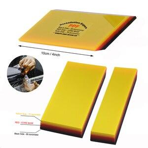 Image 1 - FOSHIO – raclette demballage en Fiber de carbone PPF, outil de collage de Film vinylique de voiture 2 en 1 pour teinture de fenêtre, nettoyage automatique, 2/5 pièces