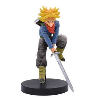 Anime DragonBall Super Trunks PVC Action Figure D Super Saiyan Torankusu Yellow Hair Figure Collectible Model Toy 18cm цена 2017