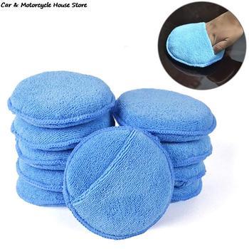 Nowy 1pc aplikator wosku z mikrofibry Pad 5 #8222 średnica z kieszonką na palec polski wosk samochodowy zastosuj Remover Buff Pads tanie i dobre opinie CN (pochodzenie)
