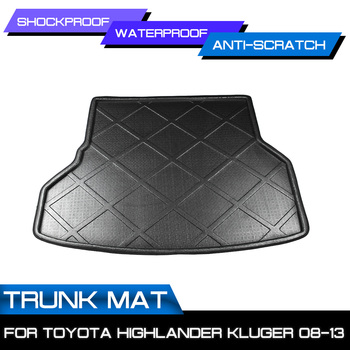 Car Floor Mat Carpet For Toyota Highlander Kluger 2008 2009 2010 2011 2012 2013 Rear Trunk Anti-mud Cover image