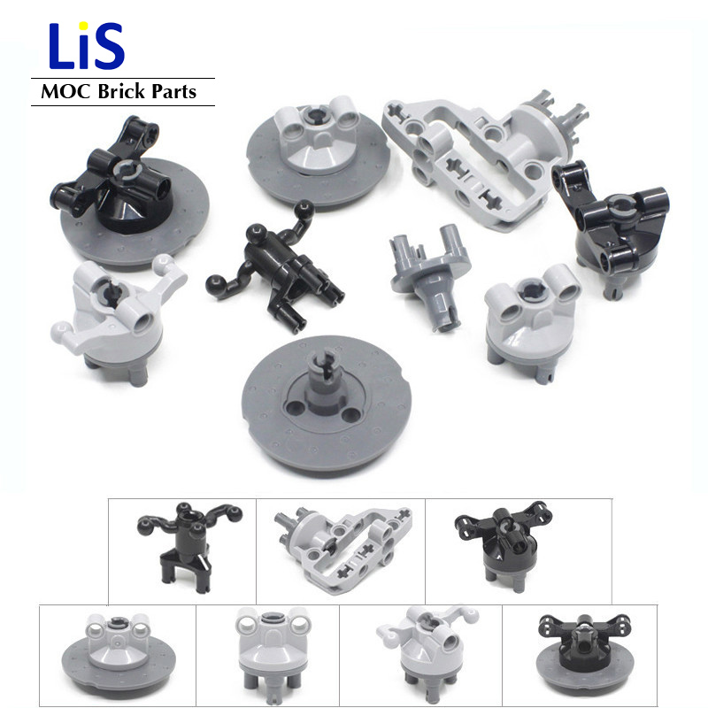 5 Sets/Lot Compatible with <font><b>Lego</b></font> Technic Suspension Steering Hub Portal Axle Housing Drive Combination Building Block Parts Toys image