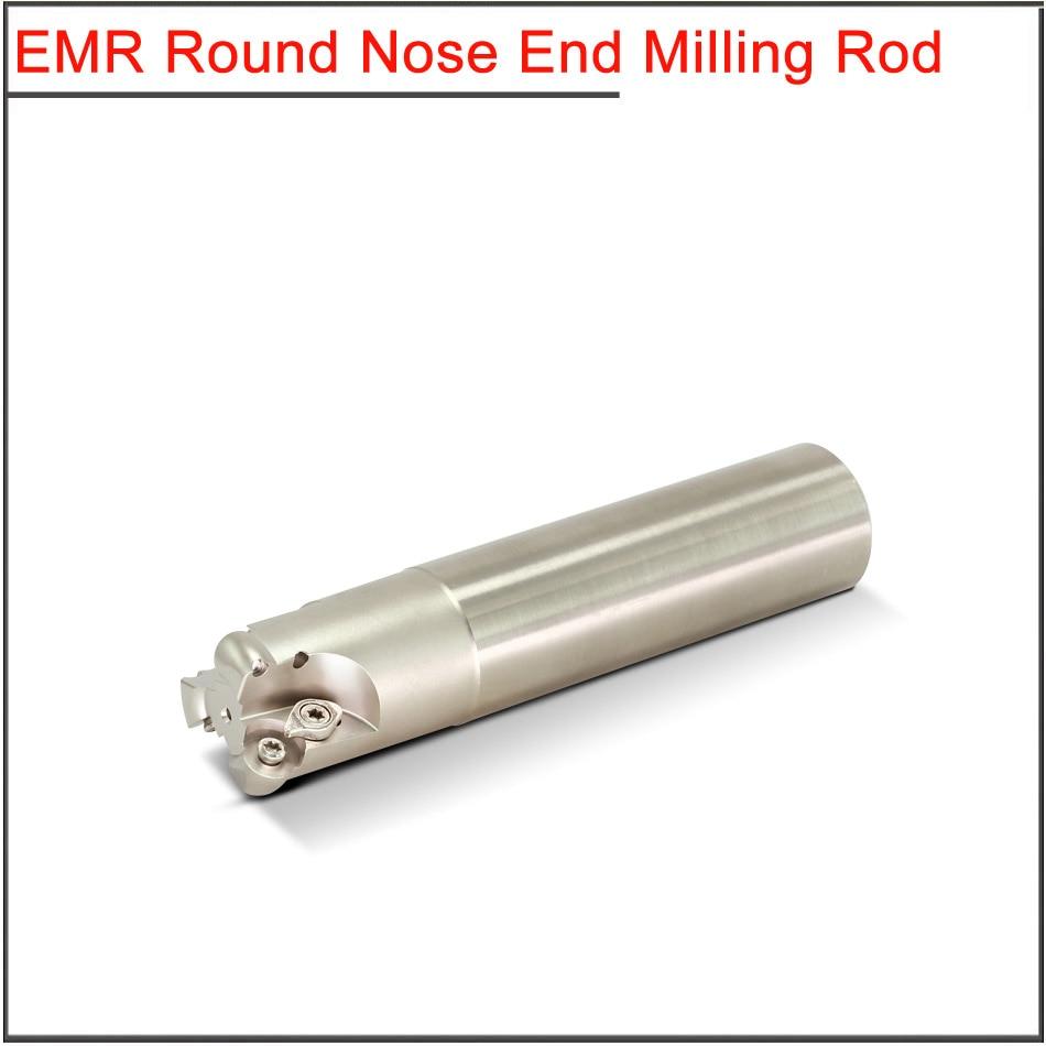 Купить с кэшбэком EMR-5R 25/30/35/40mm Milling holder for R5 RPMT10T3MO Cutting Shoulder Right Angle Precision Milling Cutter End Mill Shank