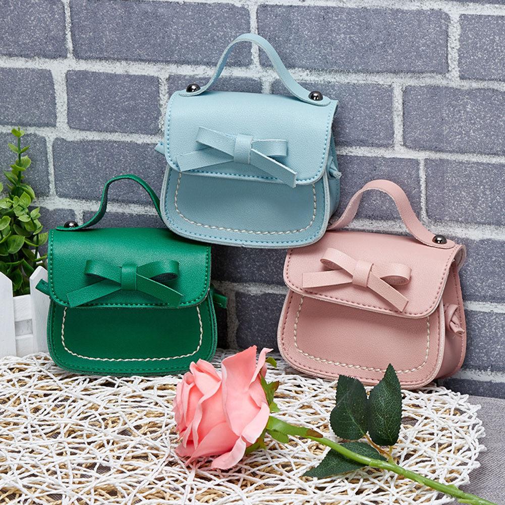 Hot Sale Fashion Handbag Bowknot Coin Purses Children Toddler Baby Girls Messenger Bags Kids Girl Princess School Shoulder Bag
