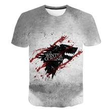2020 Game Of Thrones Noite Rei T Camisa 2020 Nova streetwear curto-de mangas compridas dos homens T-shirt plus size S-6XL navio da gota X Task Force(China)