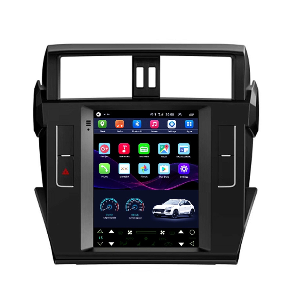 9.7 Tesla style Screen android 8.1 GPS car radio for Toyota Prado 2014 2015 car Navigation bluetooth 4g lte wireless Network image