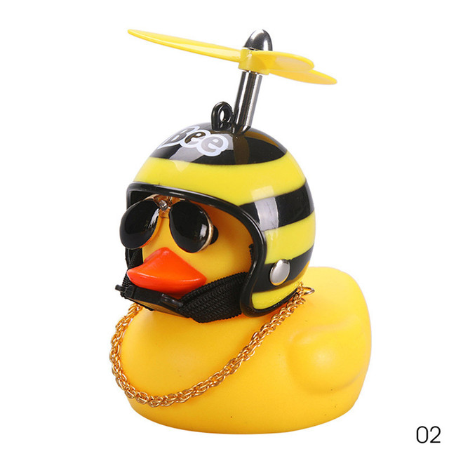 New Fashionable Standing Duck Bicycle Bell Bike Light Broken Wind Small bell