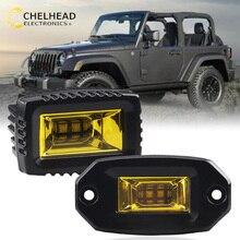 Led Flutlicht Schoten Birne Auflichtbeleuchtung Auto Führte Arbeit Lampe 3000K Flush Montieren Fahren Beleuchtung für 4X4 Off road SUV Lkw 24V 12V