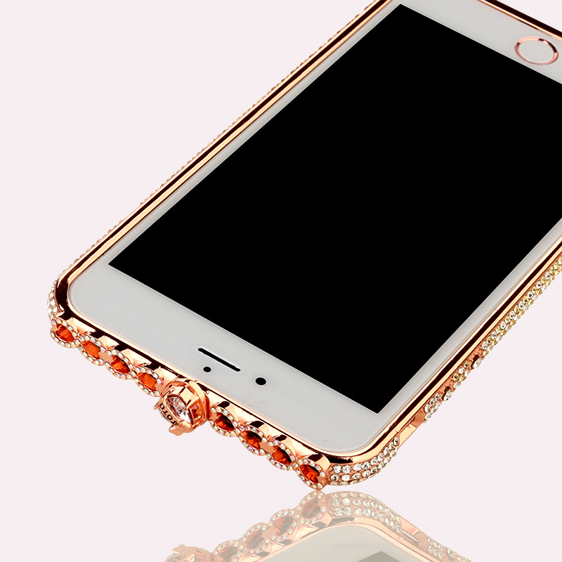 Glitter Diamond Metal Frame Cover For Apple iPhone X XS XR Xs Max Phone Case Anti fall Shell For iPhone 6 7 8 6Plus 7Plus 8Plus