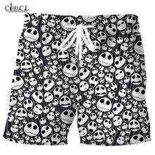 Skellington-Shorts Skull-Jack Streetwear Beach-Pants 3d-Print Summer Women Christmas
