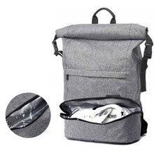 Mannen Rugzak Voor 17 Inch Laptop Tassen Grote Capaciteit Mode Stundet School Pouch Waterdichte Onafhankelijke Schoenen Tote Accessoires