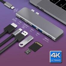 USB 3.1 Type-C Hub To HDMI Adapter 4K Thunderbolt 3 USB C Hub with Hub 3.0 TF SD Reader Slot PD for MacBook Pro/Air 2018/2019 стоимость