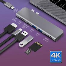 USB 3.1 Tipo-C Hub All'adattatore di HDMI 4K Thunderbolt 3 USB C Hub con Hub 3.0 TF reader SD Slot PD per MacBook Pro/Air 2018/2019(China)