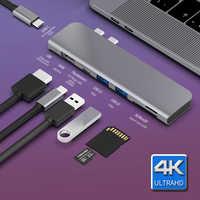 USB 3.1 type-c Hub vers HDMI adaptateur 4K Thunderbolt 3 USB C Hub avec Hub 3.0 TF SD lecteur Slot PD pour MacBook Pro/Air 2018/2019