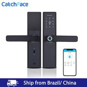 Lock Biometric Warehouse-Wifi-App Brazil RFID Fingerprint Digital Bluetooth Smart Electronic-Door