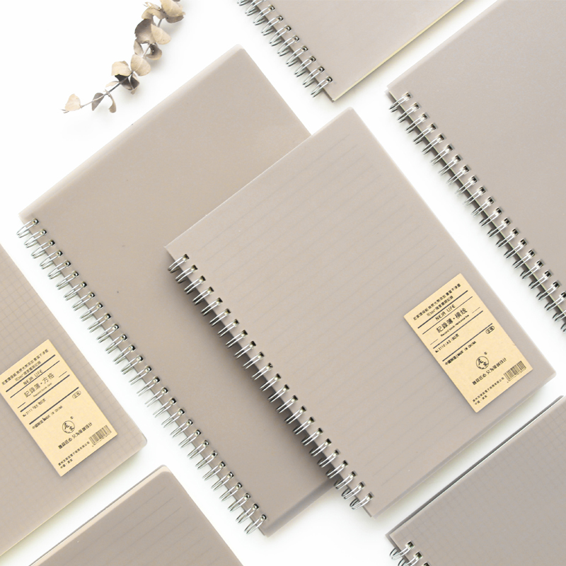 A5  Spiral Book Coil Notebook Lined Blank Grid Paper Journal Diary Sketchbook For School Office Supplies Stationery