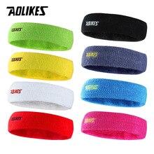 AOLIKES, 1 шт., высокое качество, хлопок, пота, повязка на голову для мужчин, Sweatband wo, для мужчин, для йоги, повязки на голову, потовые повязки, Спортивная безопасность