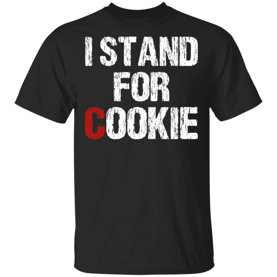 Vintage Aku Berdiri untuk Cookie Dukungan Kanker Pediatrik T-shirt-Navy Pria-Wanita Bernapas Kemeja TEE