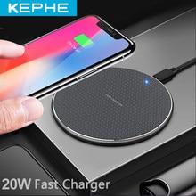 Yeni 20W Qi hızlı kablosuz şarj cihazı iPhone 11 XS XR 8 artı USB hızlı kablosuz şarj pedi iPhone Samsung Huawei Xiaomi için