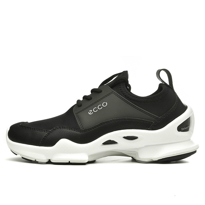 Ecco Men's Leather Shoes Sports Shoes Outdoor Fashion Shoes Summer Breathable Anti-slip Sneakers Increased Male Shoes New Arriva