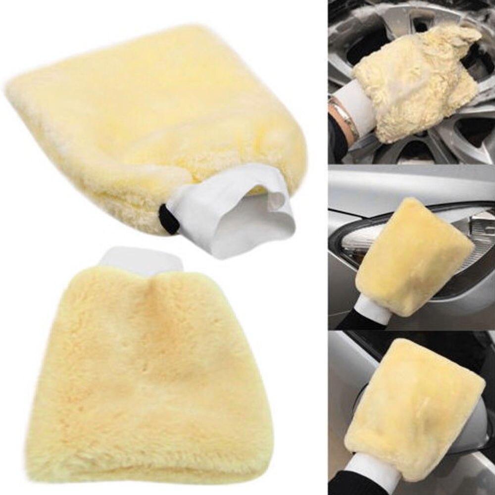 24x16cm Lambswool New Plush Mitt Car Wash Glove Mitten Washing Cleaning Brush Tools Auto Detailing Brushes SpongePlush