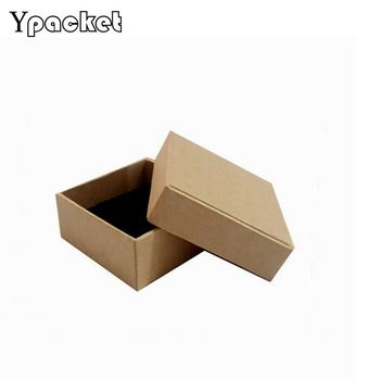 40pcs /lot High Quality Kraft Box Jewelry  Square Jewelry Organizer Box Rings Storage Case For Ring Pendant 8.3*8.3*3.5cm