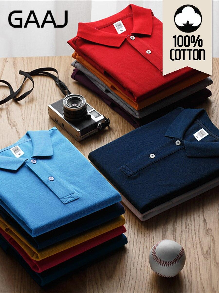 GAAJ Polo-Shirt Clothing-Wine Short-Sleeve Blue 100-Cotton Mens Brand Grey Fashion Summer