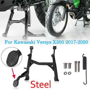 Versys X-300 Black Centerstand Center Kickstand Foot Center Stand Support For Kawasaki Versys X300 Versys-X300 2017-2020 2018 19 obdstar x300 pad2 x300 dp plus c package full version 8inch tablet support ecu programming and toyota smart key