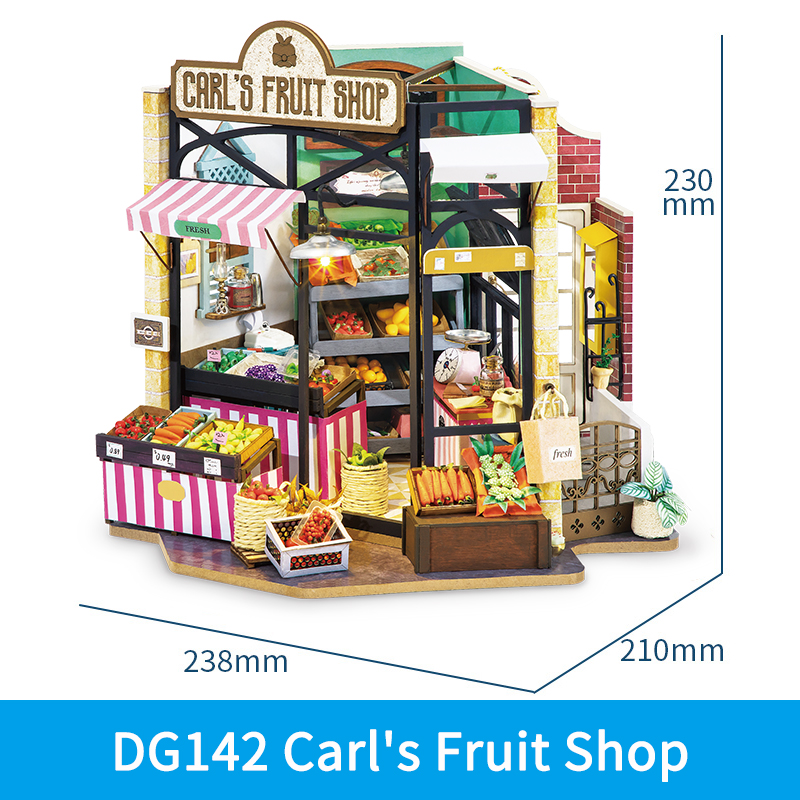 Robotime Rolife DIY Wooden Miniature Dollhouse with Furniture For Gift 8