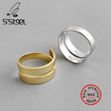 S'STEEL 925 Sterling Silver Rings For Women Gold Ring Anillos De Plata De Ley Mujer Bijoux Argent Massif Pour Femme Fine Jewelry