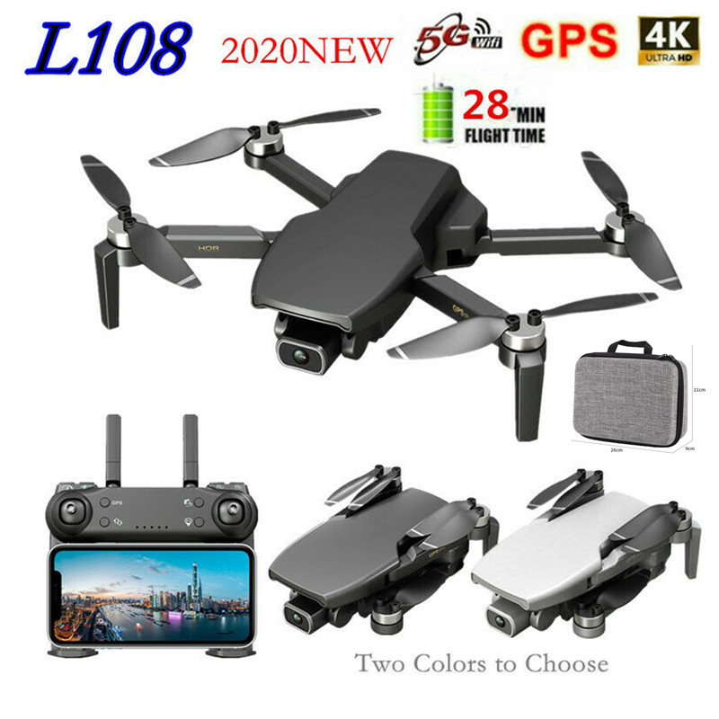 L108 GPS 5G WIFI RC Drone With HD 4K Camera Professional 1000 Image Transmission Brushless Motor Foldable Quadcopter RC Drones