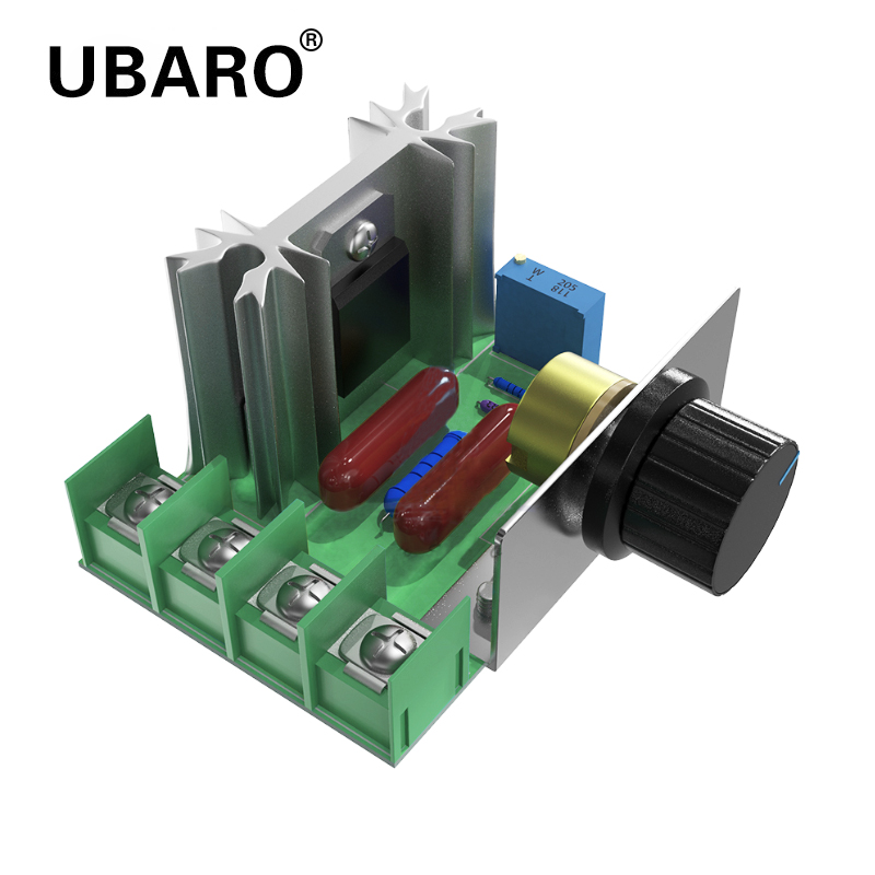 UBARO 2000W SCR Voltage Regulator Motor Speed Controller Dimming Dimmers Thermostat Electronic Voltage Regulator DIY Module