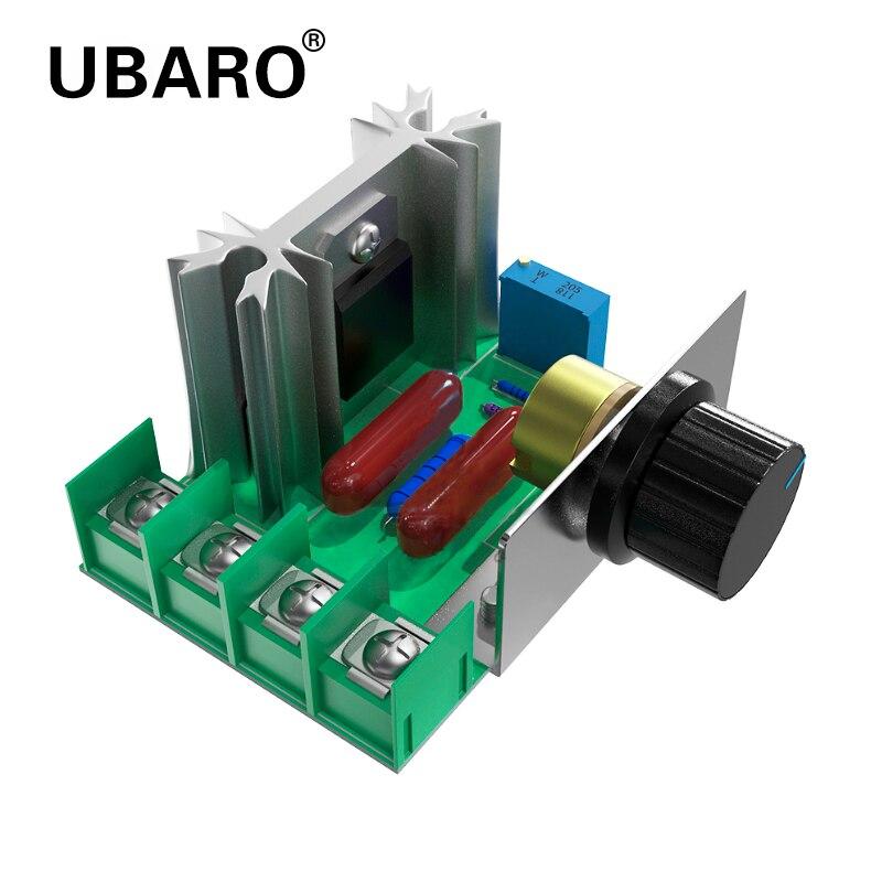UBARO – régulateur de tension SCR 2000W, contrôleur de vitesse de moteur, variateur de gradation, Thermostat, régulateur de tension électronique, Module de bricolage