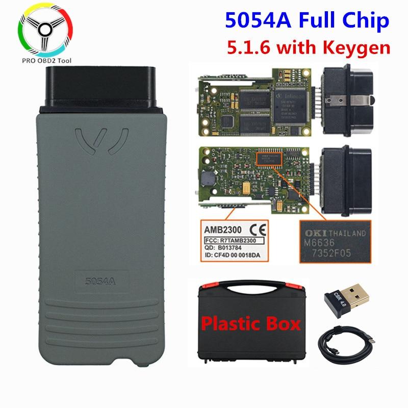 Оригинальный OKI 5054A 5.1.6 генератор ключей Bluetooth AMB2300 5054 полный чип Поддержка UDS 5054A V5.1.6 WIFI автомобильный диагностический инструмент