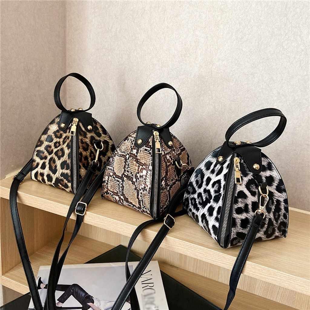 Fashion Wanita S Kapasitas Besar Pangsit Tas Gaya Hewan Tekstur Kulit Ponsel Tas Tas Bahu Messenger Bag Bolsas