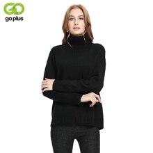 2019 GOPLUS 秋冬黒タートルネックプルオーバー女性セーター基本長袖トップ女性 C4276