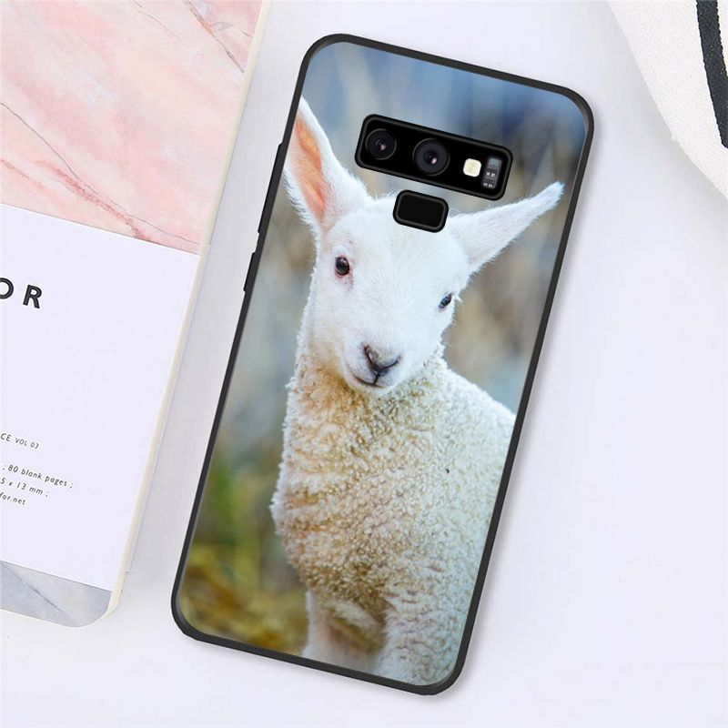 Adorable Spring Lamb Floral Garden Wedding Sheep Phone Case For Samsung Galaxy A50 A70 A20 A30 Note9 8 Note7 Note10 Pro