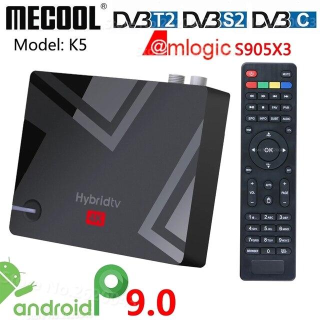 DVB S2 DVB T2 Smart Tv Box Android 9.0 Amlogic S905X3 2.4G 5G Wifi Tv Ontvangers Bluetooth 2Gb 16gb Set Top Box