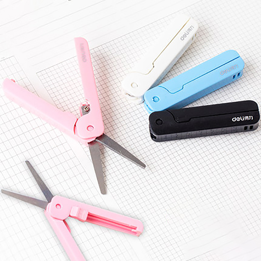 2pcs/lot Portable Scissors Paper Cutting Art Office School Supply Student Stationery DIY Tool Foldable Scissors Modeling Scissor